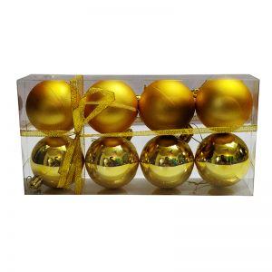 Golden Balls Hanging Ornaments - Small