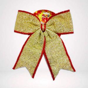 Golden Bow Christmas Decoration