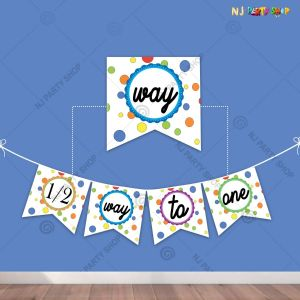 Half Happy Birthday Banner For Girls