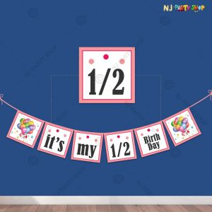 Half Happy Birthday Banner For Boys