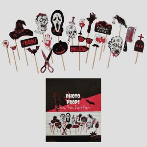 Halloween Photo Booth Props - Set of 22