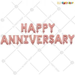 Happy Anniversary Foil Banner - Rose Gold