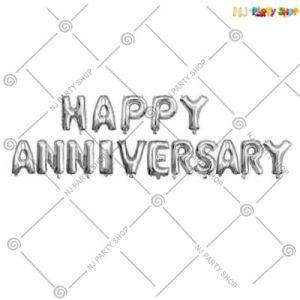 Happy Anniversary Foil Banner - Silver
