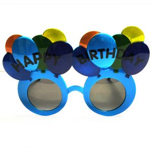 Happy Birthday Balloon Party Goggle - Blue
