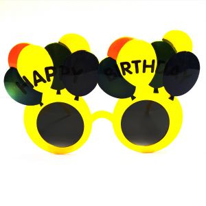 Happy Birthday Balloon Party Goggle - Yellow