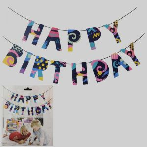 Happy Birthday Banner Bunting - Model A1