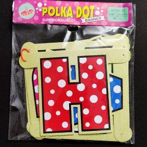 Happy Birthday Banner - Multi Color Polka Dots