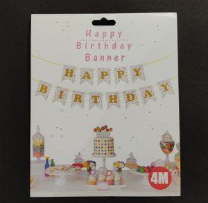 Happy Birthday Banner Polka Dot
