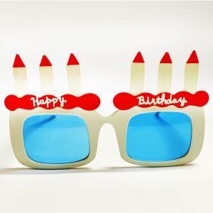 Happy Birthday Candle Party Goggle - White