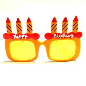 Happy Birthday Candle Party Goggle - Yellow