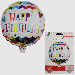 Happy Birthday Round Foil Balloon - Model A1