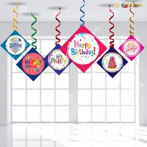 Happy Birthday Swirls Decoration - Model Y1