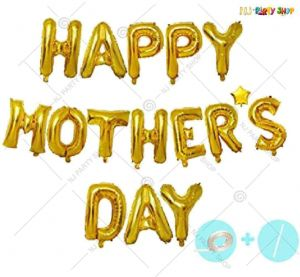 Happy Mother's Day Foil Golden Banner