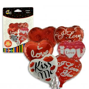 Heart Shape Foil Balloon - Set of 1