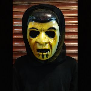 Hollow Eyes Ghost Scarry Horror Mask for Halloween - Yellow Color