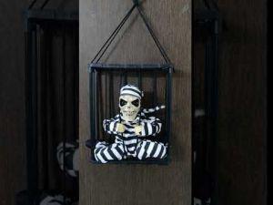 Cage Skeleton Musical Hanging Halloween Toy
