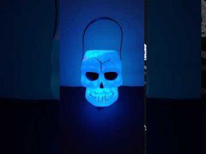 Led Skull Bucket