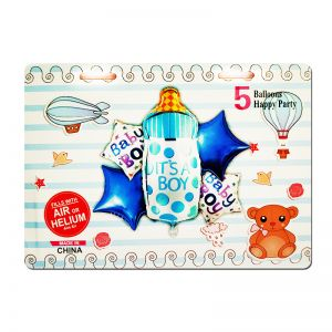 It's A Boy Foil Balloon - Set of 6