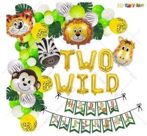014T -Jungle Animal Theme Birthday Decoration Combo