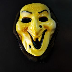 Laughing Ghost Scarry Horror Mask for Halloween - Yellow Color