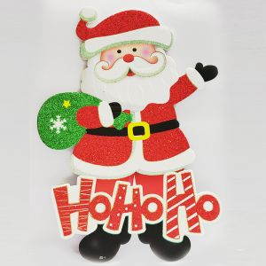 Laughing Santa Xmas Decoration - Sunboard Banner-Stickers