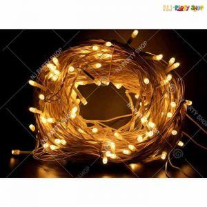 LED Plug Rice Series Lights - Warm White/Yellow - 30 Foot