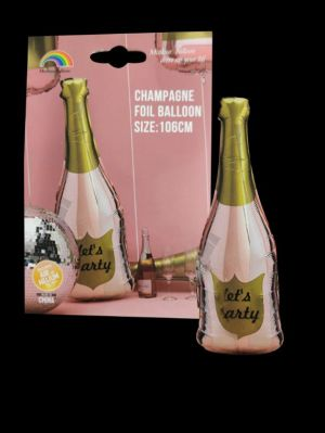 Let's Party Champagne Foil Balloon