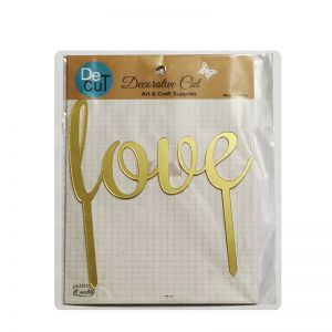 Love Cake Topper - Golden
