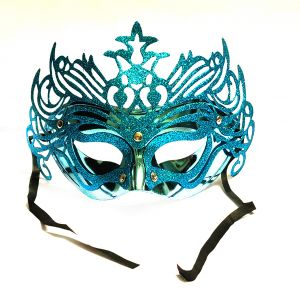Masquerade Ajooba Eye Mask - Metallic Blue