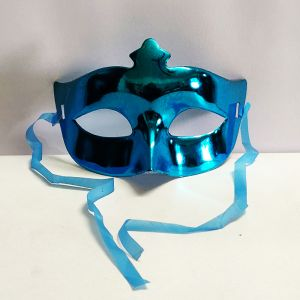 Masquerade Eye Mask - Metallic Blue