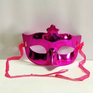Masquerade Eye Mask - Metallic Pink