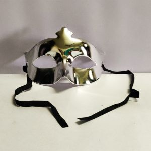 Masquerade Eye Mask - Metallic Silver
