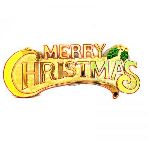 Merry Christmas Banner - Gold
