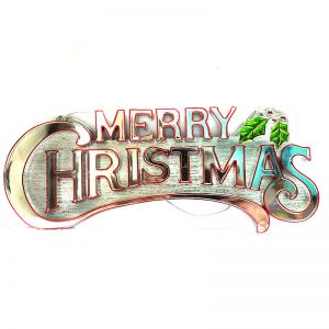Merry Christmas Banner - Silver