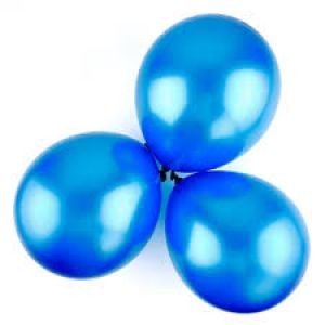 Metallic Balloons Dark Blue- Set of 25 Pcs