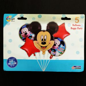 Mickey Mouse Foil Balloon - Set of 5