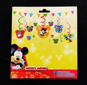 Mickey Mouse Swirls Hanging - Set of 12