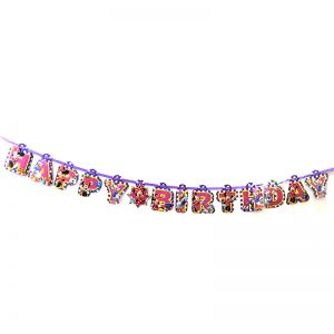 Minie Mouse Theme Happy Birthday Banner