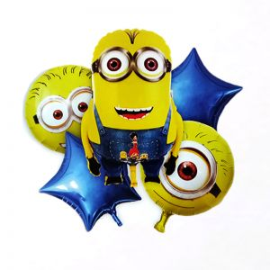 Minion 5 Pieces Set Foil Balloon