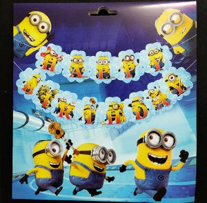 Minion Happy Birthday Banner