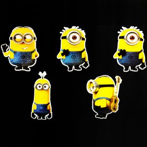 Minion Theme Cutouts/Stickers Decoration - Set of 5 - 1FT Height