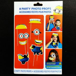 Minion Theme Photo Booth Props - Set of 8