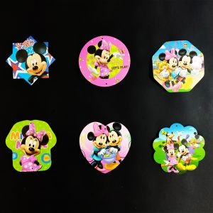 Minnie Mouse Theme Hanging Decoration / Stickers - Set of 6