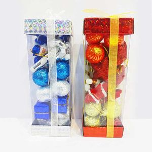 Blue Mixed Christmas Tree Decoration Ornaments Gift Boxes - Model X1