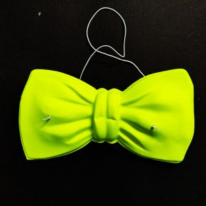 Neon Party Bow Accessories - Yellow