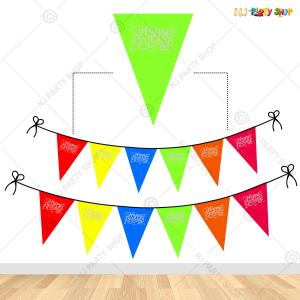 Neon Happy Birthday Banner Bunting