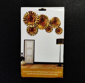 Paper Fans for Decoration - Golden - Set of 6