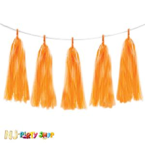 Paper Tassels Decoration - Orange