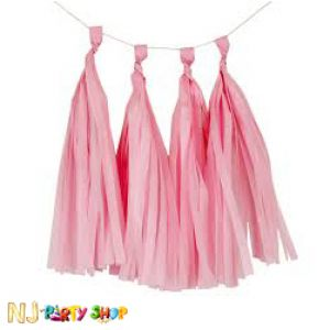 Paper Tassels Decoration - Pink