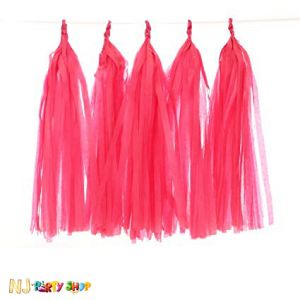 Paper Tassels Decoration - Red
